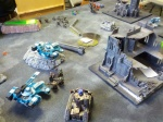 The Firewarriors try to make their escape through the dwindling Ork Boys